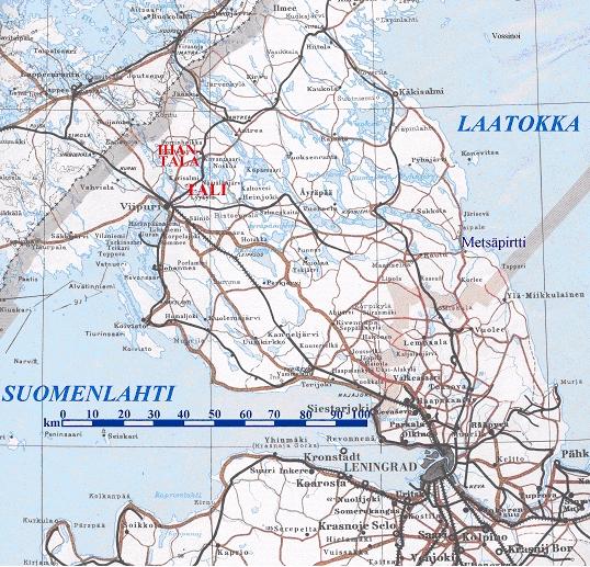 Karjalan Kannas 1944 Kartta